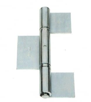 Bisagra pernio 3 cuerpos zincada para soldar, serie media puertas librillo