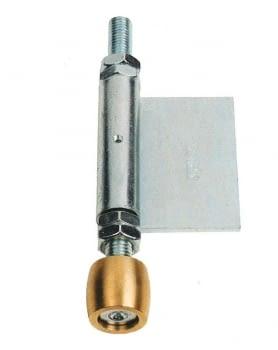 Guiador inferior lateral para soldar a puerta librillo, serie media