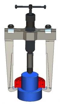 Extractor hidráulico 8 Tm patas rígidas FORZA - 1