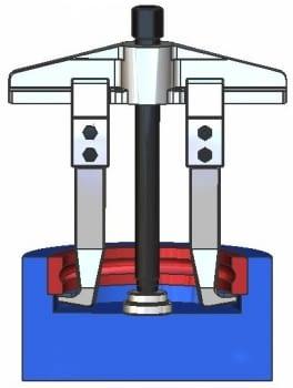 Extractor de rodamientos con 2 patas rígidas serie 2400 FORZA - 1