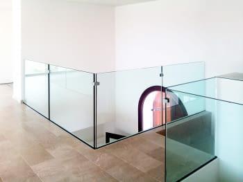 Pinza para vidrio tramo recto inox  AISI-316  (Caja indivisible 2 unidades // precio por unidad!!) - 1