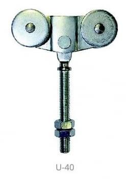 Roldanas dobles ref. U2-40 serie ECO para guía 40x40 mm 40 Kg AUMON