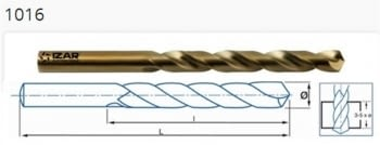 Brocas HSSE serie corta Cobalto ref. 1016 IZAR