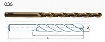 Brocas HSSE serie larga Cobalto ref. 1036 IZAR