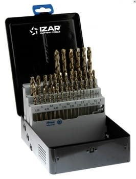 Juego Brocas Cobalto 37 pcs (1-10 x 0,25 mm) IZAR