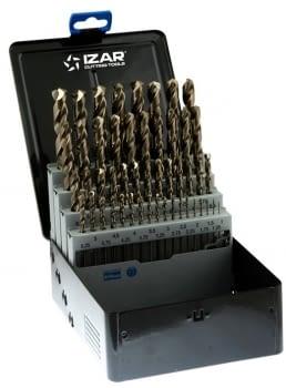 Juego Brocas cobalto 49 pcs (1-13 x 0,25 mm) IZAR