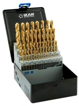 Juego Brocas titanio 49 pcs (1-13 x 0,25 mm) IZAR