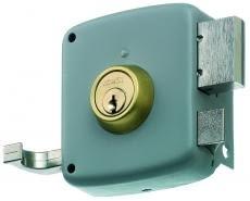 Cerradura sobreponer PALANCA + PICAPORTE  (tirador) ref. 2525-PR MCM