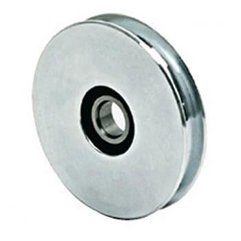 Polea hierro zincado 1 canal p/puerta basculante  AUMON
