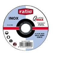 Disco corte inox/metal Quality Max corindón A60-BF inox RATIO