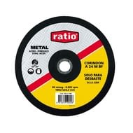 Disco desbaste metal abrasivo corindón A24MBF RATIO