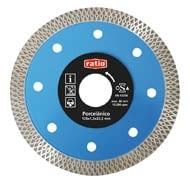 Disco turbo gres/porcelánico Quality Max Ø 115x1,2 mm segmentos 10 mm RATIO