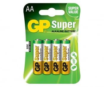 Pilas alcalinas AA  Super 4 unidades GP