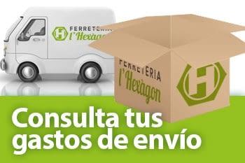 Consulta los gastos de envío pedidos tienda Ferreteria