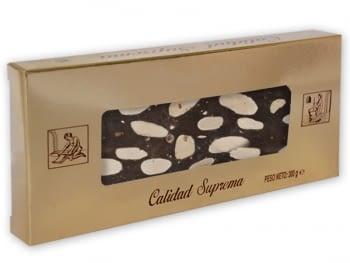 Turrón Chocolate Almendras Sin Leche 300gr.