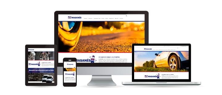 Ad Masanés crea su nueva página web con Ebasnet Web