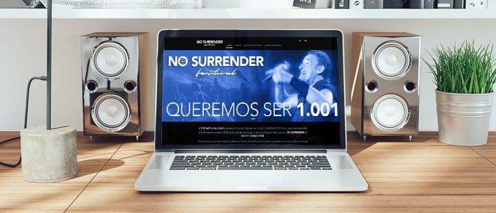 NO SURRENDER FESTIVAL confia en Ebasnet para Crear su Página Web