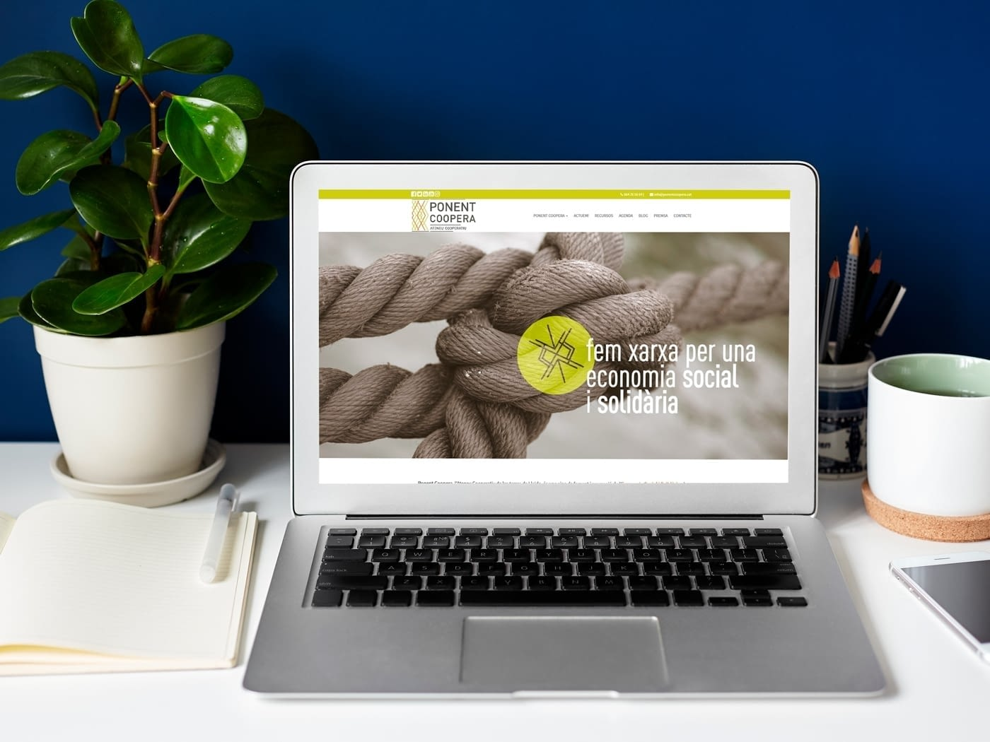 Nueva Web Corporativa para Ponent Coopera Ateneu Cooperatiu
