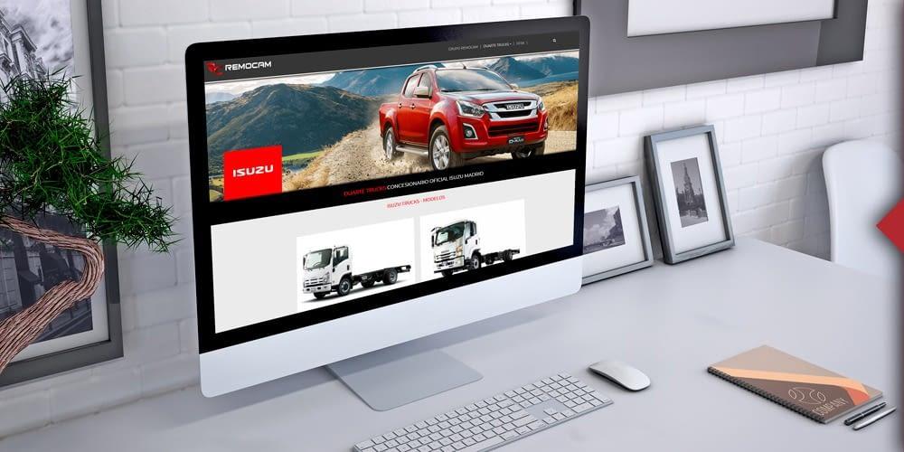 Remocam Trucks S.L. estrena web