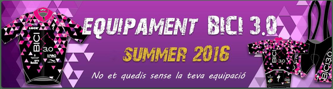 Equipament Summer 2016