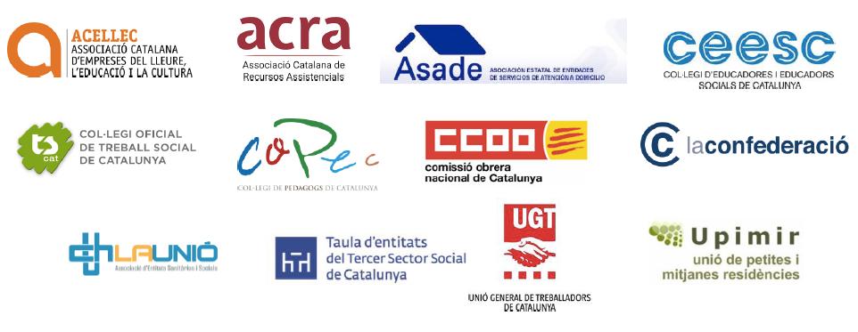 Neix la mesa unitària en defensa del sector social perquè els pressupostos del 2020 del Govern acabin amb l'infrafinançament i garanteixin el treball de qualitat