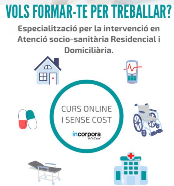Nou Curs Online d'Especialització en Atenció Sociosanitària en Domicilis i Residències