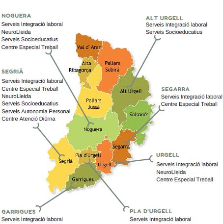 Mapa presencia territorial Associació Aspid