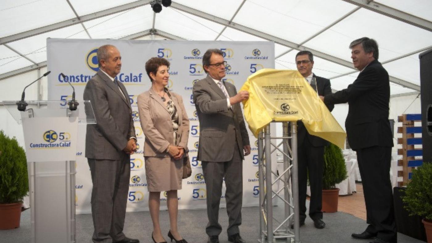 El president de la Generalitat Artur Mas reconeix la tasca de Constructora Calaf en el seu 50è Aniversari
