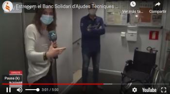 Reportaje de Lleida TV, Estrenamos el Banc Solidario de Productos de Apoyo!