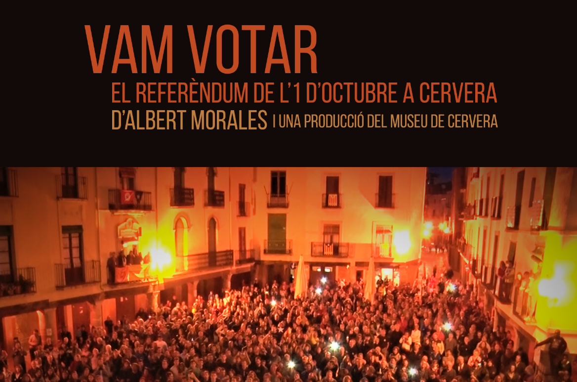 VAM VOTAR. El referèndum de l'1 d'octubre a Cervera