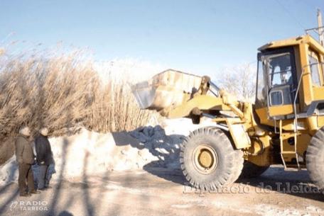 La Diputació de Lleida dota els ajuntaments amb 2.300 tones de fundents per fer front a les gelades