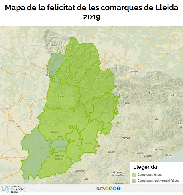 """Segons una enquesta de la UdL, El Pallars Jussà i el Solsonès són les comarques """"més felices"""" de la demarcació de Lleida"""