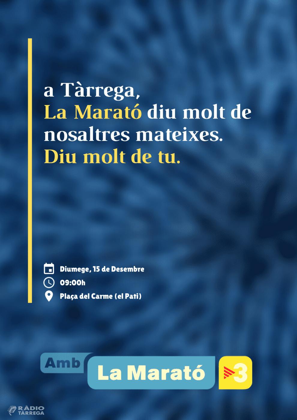 Tot a punt des de Tàrrega per la Marató de TV3 2019