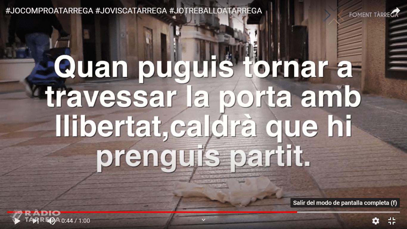 """Foment Tàrrega engega la campanya """"Tornem la vida a Tàrrega"""" per visibilitzar la necessitat de mantenir el comerç de proximitat"""