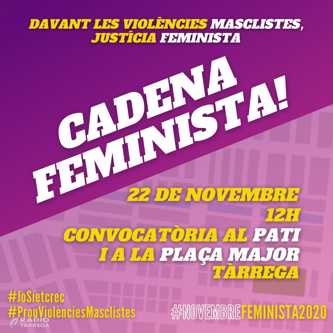 Tàrrega alça la veu contra les violències masclistes i reactiva la campanya 'Digues prou, no estàs sola' amb una desena d'activitats