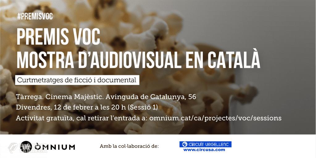 Projecció a la Segarra i l'Urgell de la primera sessió dels Premis VOC - Versió Original en Català
