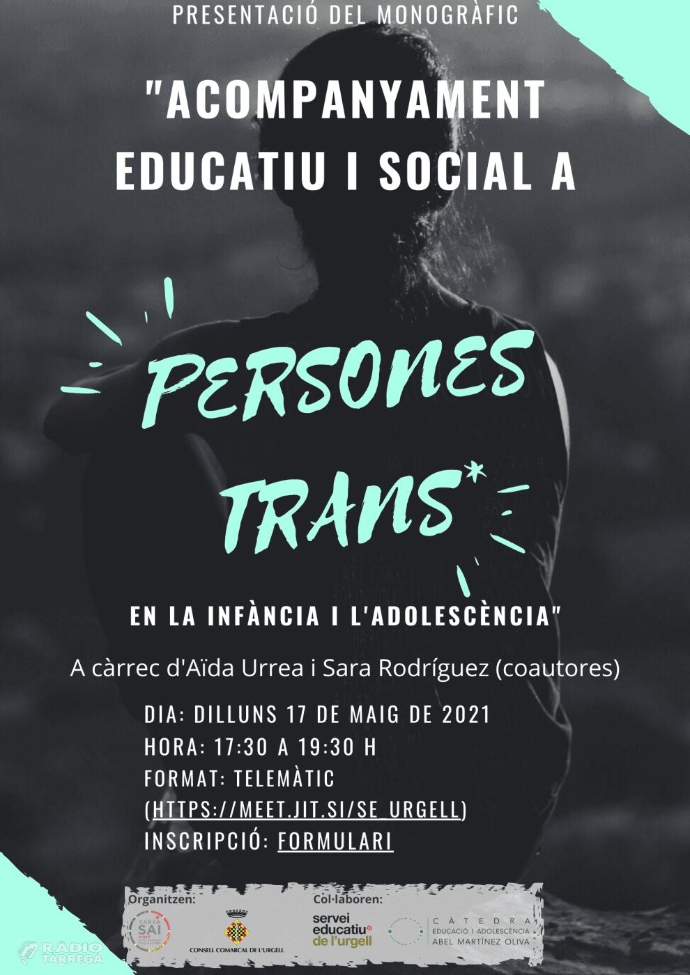Formació per als docents de l'Urgell sobre 'Acompanyament educatiu i social a persones trans durant la infància i l'adolescència'