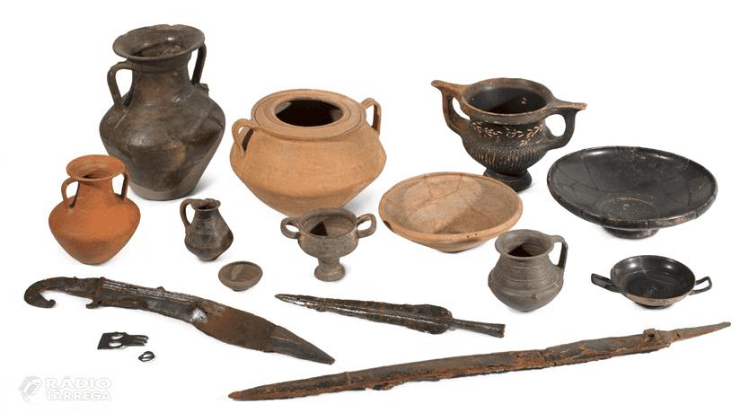 Peces procedents del jaciment Molí d'Espígol de Tornabous formen part de l'exposició del Museu d'Arqueologia de Catalunya 'L'Enigma iber. Arqueologia d'una civilització'