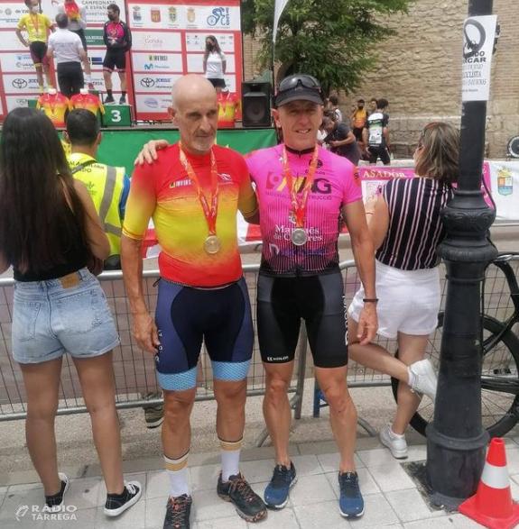 Doblet de medalles de ciclistes targarins, Manel Seco Campió d'Espanya M50A i Ramon Lloses Subcampió M50B