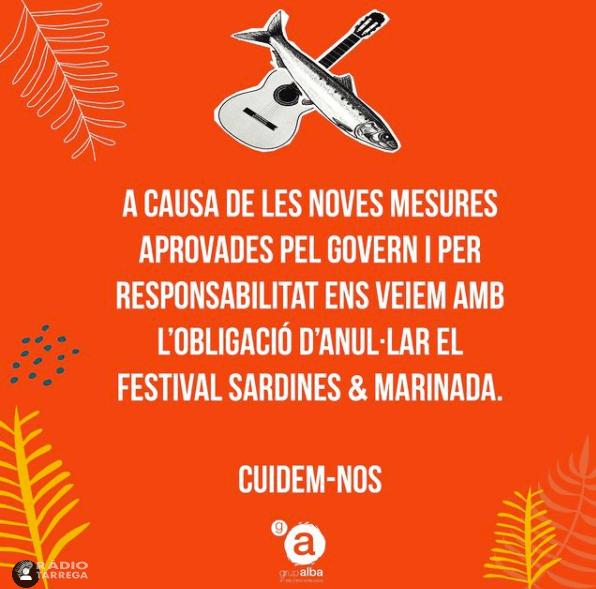 L'Associació Alba anul·la el desè Festival Sardines&Marinada