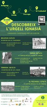 Descobreix  l'Urgell Ignasià , 9, 16 i 29 de maig i 12 de juny