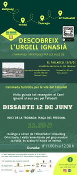 Descobreix l'Urgell Ignasià - Caminada turística al Talladell , 12 de juny