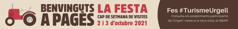 Participa al Benvinguts a Pagès a l'Urgell, els dies 2 i 3 d'octubre