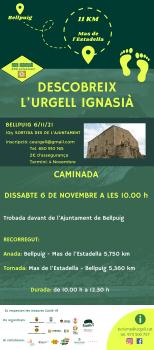 Dissabte 6 de novembre, Caminada Descobreix l'Urgell ignasià