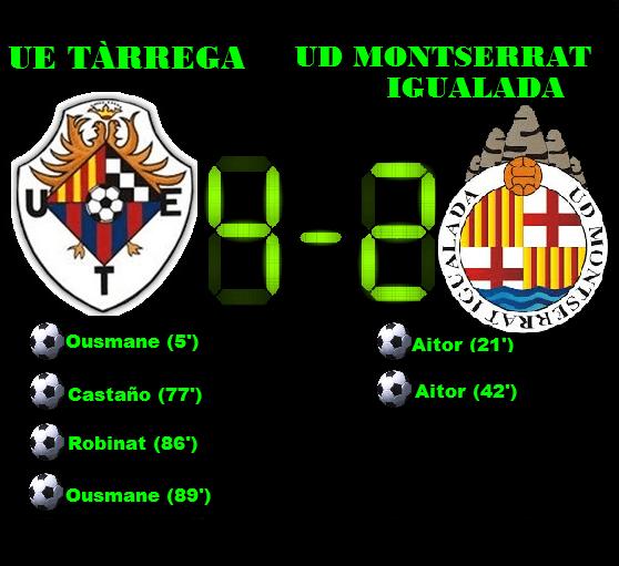 Crònica: UE Tàrrega 4-2 UD Montserrat Igualada (Pretemporada)