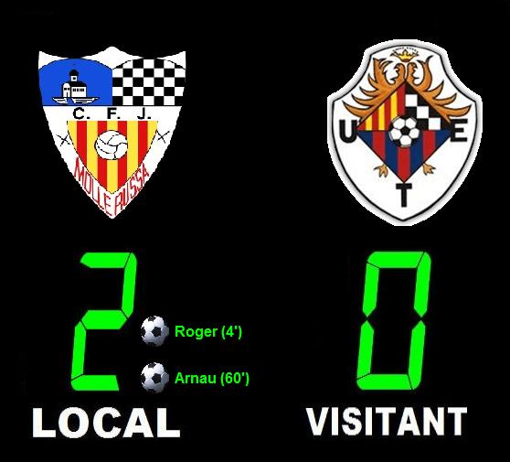 Crònica: CFJ Mollerussa 2-0 UE Tàrrega (Copa Lleida)