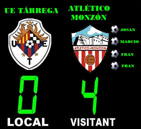Crònica: UE Tàrrega 0-4 Atlético Monzón (Pretemporada)