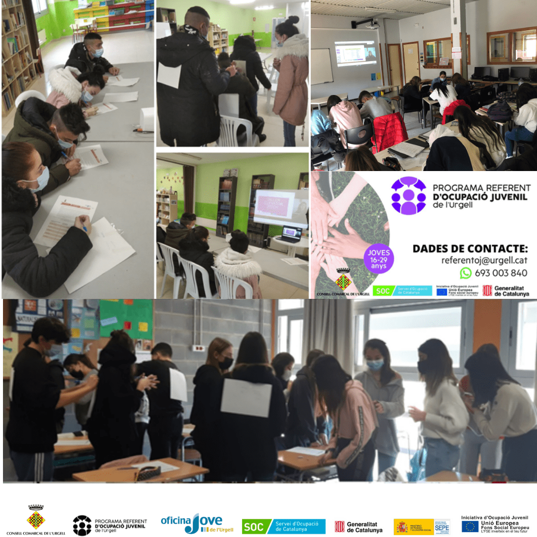El Programa Referent d'ocupació juvenil atén 144 joves des de l'inici del 2021 i ha portat a terme 51 tallers als centres educatius de la comarca.