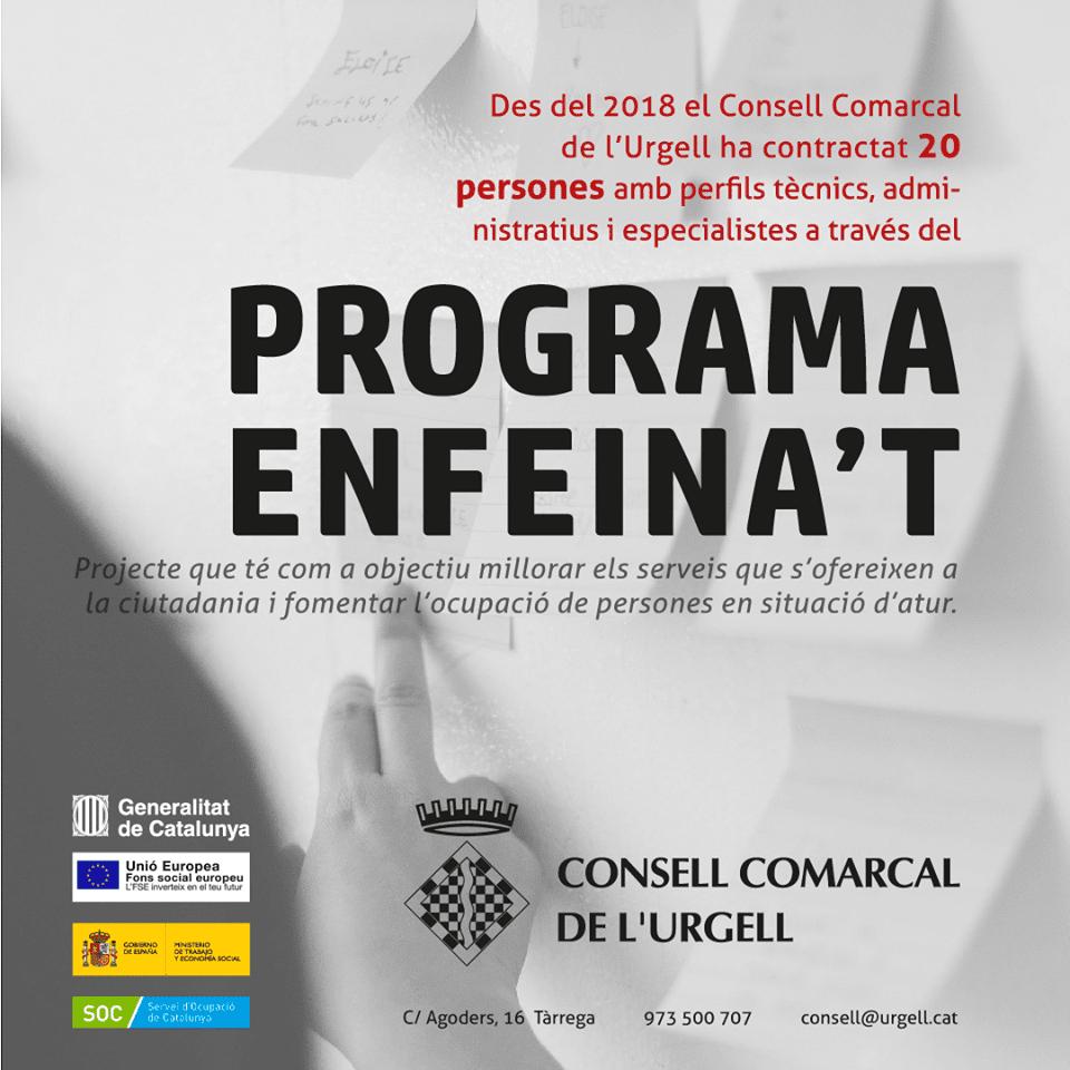 Des del Consell Comarcal de l'Urgell seguim donant suport a programes com l'