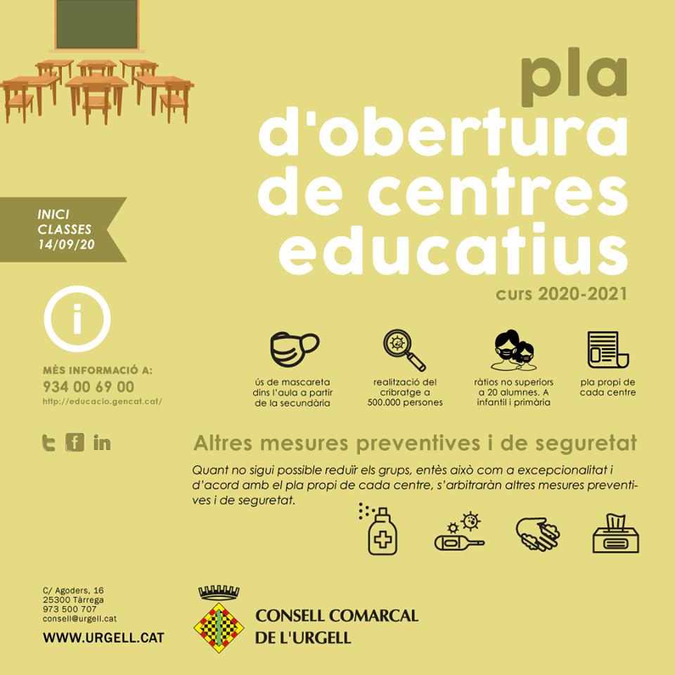 Dilluns dia 14 de setembre comencen les classes al territori català.